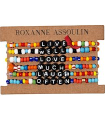 roxanne assoulin live well love much laugh often camp bracelets -