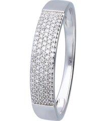 anello in oro bianco con diamanti 0,15 ct per donna