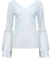camiseta manga acampanada color blanco, talla 8