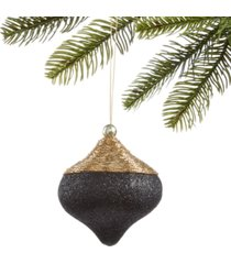 holiday lane black tie onion ornament, created for macy's
