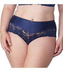 calcinha alta mais renda marinho - 574.023 marcyn lingerie alta azul.