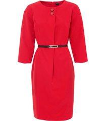 abito con maniche a 3/4 (rosso) - bodyflirt