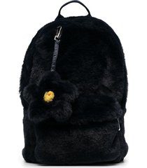 il gufo faux fur backpack - blue