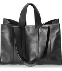 corto moltedo designer handbags, costanza beach club large black leather tote