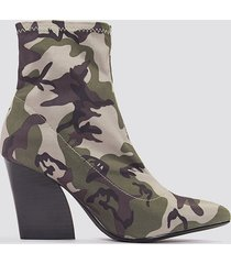 na-kd shoes camo sock boots - multicolor