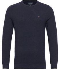 graham organic cotton crew neck sweater sweat-shirt trui blauw lexington clothing