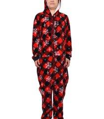 derek heart trendy plus size 1-pc. printed holiday pajamas