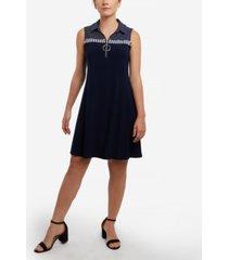 msk petite o-ring zipper jersey shift dress
