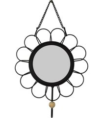 cabideiro espelho flor kasa ideia - multicolorido - dafiti