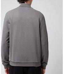 belstaff men's zip-through sweatshirt - granite grey - xl