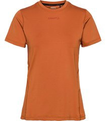 adv essence ss tee w t-shirts & tops short-sleeved orange craft
