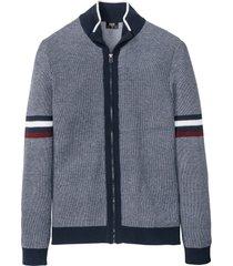 cardigan con colletto alto (blu) - bpc bonprix collection