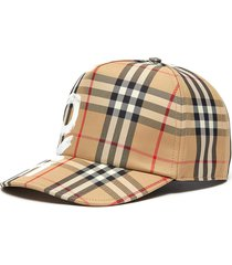 love print vintage check baseball cap