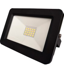 refletor led deep fit 30w bivolt preto 6500k luz branca