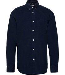 button down fine corduroy shirt skjorta casual blå calvin klein