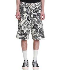marni shorts in white cotton