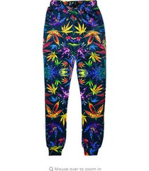 men/women joggers pants 3d sweatpants new fashion weed floral flower trousers pa