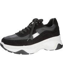 sneakers wenz svart::vit