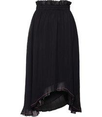 spódnica black frill midi skirt