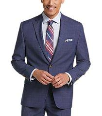 lauren by ralph lauren blue windowpane classic fit suit
