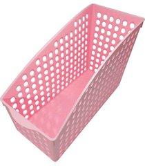 cesta thata esportes organizadora multiuso porta treco armário geladeira despensa rosa