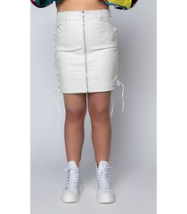 akira plus size let's stay together pleather lace up skirt skinless