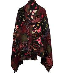 poncho free style patch r poncho regnkläder svart desigual accessories