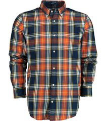 gant overhemd flannel katoen oranje 3029330/801