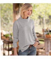 sundance catalog women's envelope neck cashmere sweater - petites in denim petite 2xs