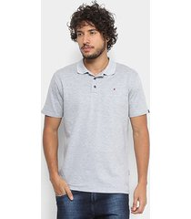 camisa polo em piquet replay manga curta masculina