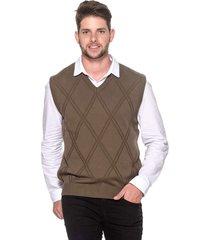 colete passion tricot lk brown