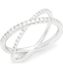 18k white gold, ruby & diamond ring