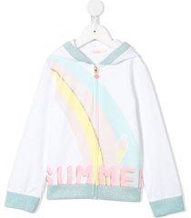 billieblush summer hooded sweatshirt - white