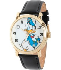disney donald duck men's gold vintage alloy watch