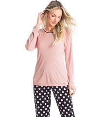 pijama longo em poá sara