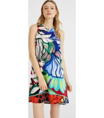 short loose-fitting dress - material finishes - xl