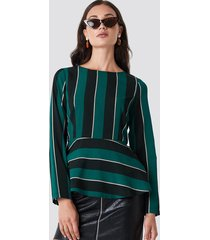 rut&circle striped blouse - green