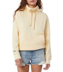 women's favorite daughter mask hoodie, size x-large - yellow