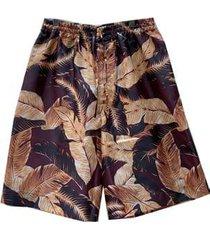 cmmn swdn casual shorts with elasticated waist custom print