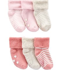 carter's baby girl 6-pack cuff booties