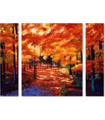 "david lloyd glover 'magical forest' multi panel art set large - 25"" x 30"" x 2"""