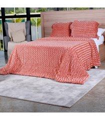 cobertor slim peles queen com porta travesseiro  batom - tessi - estampado - dafiti