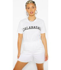 calabasas slogan oversized t-shirt, white