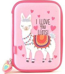 cartuchera rosa kooshi llama