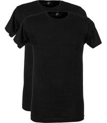 t-shirt alan red zwart o-hals 2 stuks