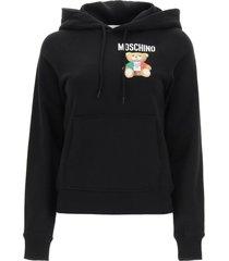 moschino italian teddy bear hooded sweatshirt