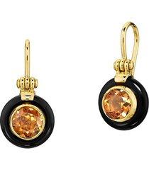 chakra frames citrine earrings