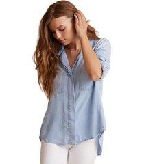 bella dahl blouse licht blauw