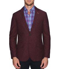 tailorbyrd men's standard-fit textured blazer - blue - size 44 r