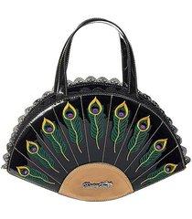 banned apparel savage garden dancing days peacock feather purse handbag bg7102